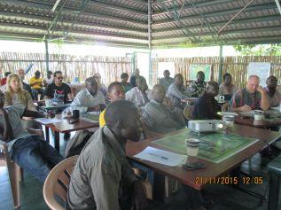 Odongo Jimmy attending a training workshop in Kampala.