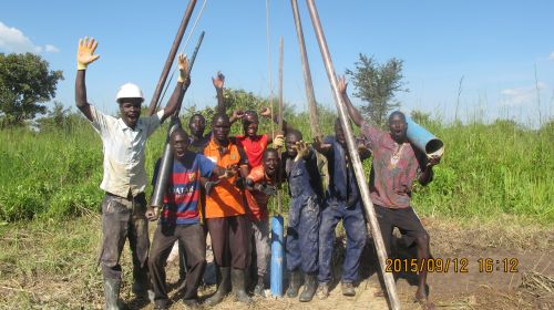 A team from Young Men Drillers
